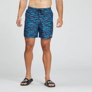 MP Men's Pacific Printed Swim Shorts - Blue