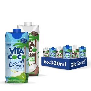Coffret d'eau de coco pure et pressée, 330 ml (6 unités)