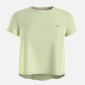 Tommy Jeans Women's TJW Relaxed Stripe T-Shirt - Faded Lime/Multi