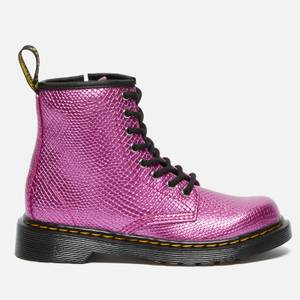 Dr. Martens Kids' 1460 Patent Lamper Lace Up Boots - Pink Reptile Emboss