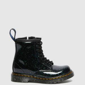 Dr. Martens Toddlers' 1460 Patent Lamper Lace Up Boots - Green Cosmic Glitter