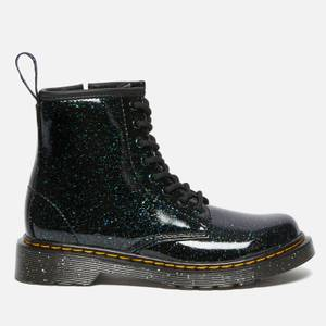 Dr. Martens Kids' 1460 Junior Patent Lamper Lace Up Boots - Green Cosmic Glitter