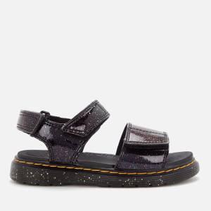 Dr. Martens Kids' Romi Sandals - Purple Cosmic Glitter