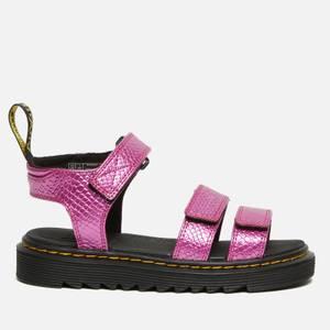 Dr. Martens Kids' Klaire Sandal - Pink Reptile Emboss