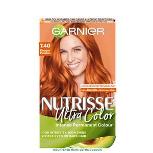 Garnier Nutrisse Ultra Colour Permanent Hair Dye - 7.40 Copper Passion 160ml