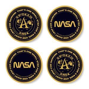 NASA Moon Token Coaster Set