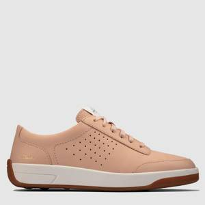 Clarks Women's Hero Air Lace Low Top Trainers - Light Pink