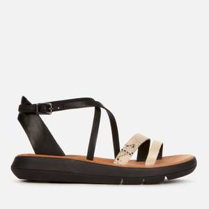 Clarks Women's Jemsa Strap Leather Sandals - Black Combi