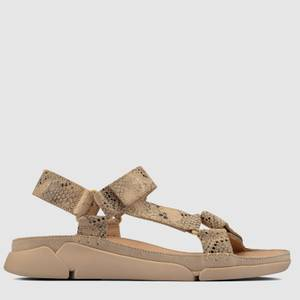 Clarks Women's Tri Sporty Sandals - Taupe Snake