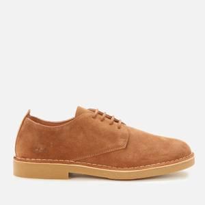 Clarks Men's Desertlondon2 Suede Derby Shoes - Cognac