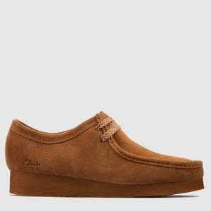 Clarks Men's Wallabee 2 Suede Shoes - Cognac
