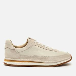 Clarks Men's Craftrun Lace Trainers - White