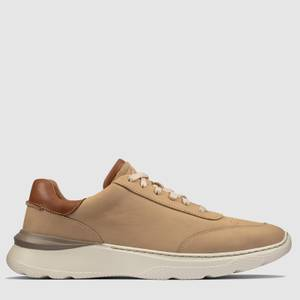 Clarks Men's Sprintlitelace Nubuck Running Style Trainers - Taupe