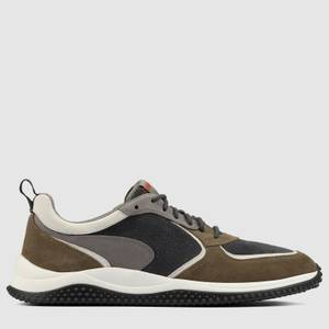 Clarks Men's Puxton Run Running Style Trainers - Olive Combi