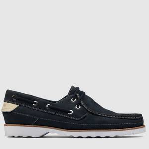 Clarks Men's Durleigh Sail Leather Boat Shoes - Navy