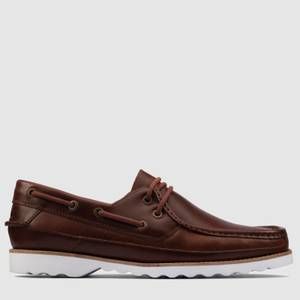 Clarks Men's Durleigh Sail Leather Boat Shoes - Tan