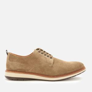 Clarks Men's Chantry Walk Suede Derby Shoes - Olive