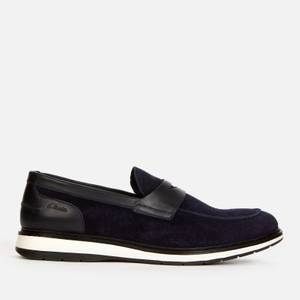 Clarks Men's Chantry Penny Suede Loafers - Navy