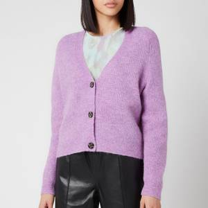Ganni Women's Soft Wool Knit Cardigan - Pastel Lilac