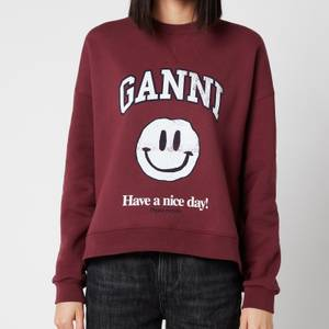 Ganni Women's Isoli Sweatshirt - Port Royale