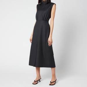 Ganni Women's Wool Suiting Dress - Phantom