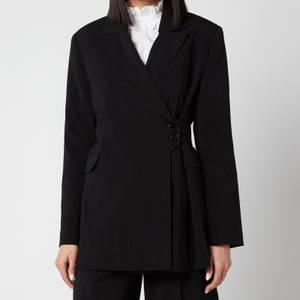 Ganni Women's Melange Suiting Jacket - Black