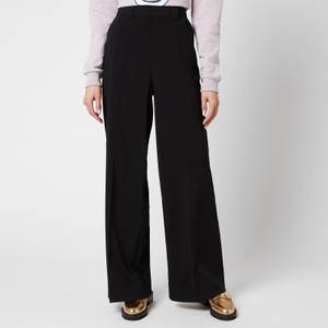 Ganni Women's Melange Suiting Trousers - Black