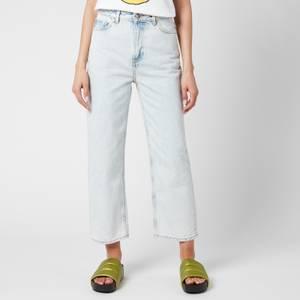Ganni Women's Washed Denim Jeans - Bleach