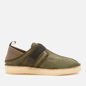 Clarks Original Men's Trek Taiyo Slip-On Shoes - Olive Combi