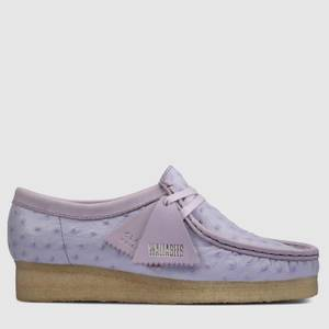 Clarks Original Women's Wallabee Ostrich Print Shoes - Lilac