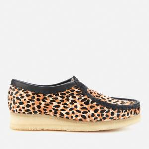 Clarks Original Women's Wallabee Suede Shoes - Leopard