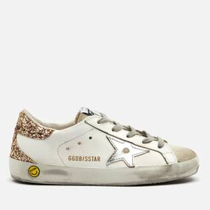 Golden Goose Deluxe Brand Kids' Super Star Leather Trainers - White/Ice/Silver/Gold