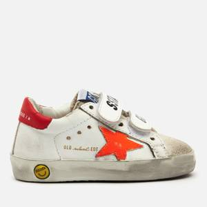 Golden Goose Deluxe Brand Toddlers' Old School Leather Trainers - White/Ice/Orange Fluo/Cherry Red