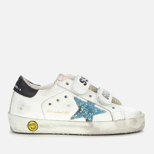 Golden Goose Deluxe Brand Toddlers' Old School Leather Trainers - White/Light Blue/Black -UK