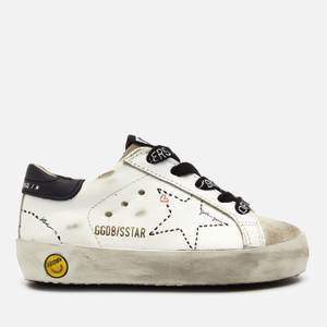 Golden Goose Deluxe Brand Toddlers' Super Star Family Leather Trainers - White/Ice