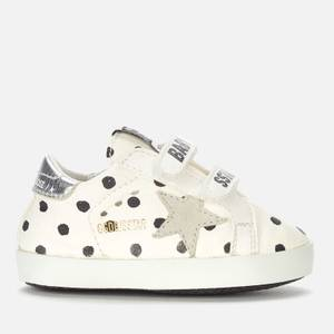 Golden Goose Deluxe Brand Babies' School Pois Print Trainers - White/Black Pois/Ice/Silver