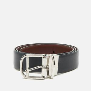 Polo Ralph Lauren Men's Smooth Leather Reversible Belt - Black/Saddle