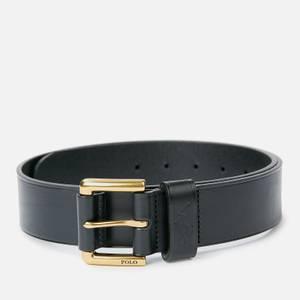 Polo Ralph Lauren Men's Leather Polo Dress Belt - Black