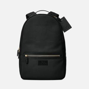 Polo Ralph Lauren Men's Leather-Trim Canvas Backpack - Black