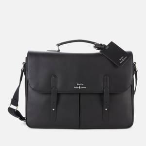 Polo Ralph Lauren Men's Leather Messenger Bag - Black