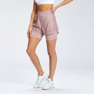 MP Women's Velocity Running Double Layer Shorts | Fawn | MP