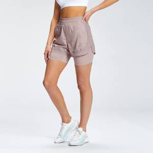 MP Women's Velocity Running Double Layer Shorts - Fawn