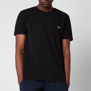 Emporio Armani Men's Shiny Logoband Crew Neck T-Shirt - Black