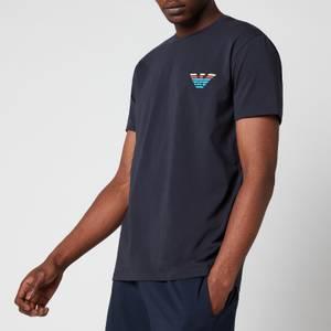Emporio Armani Men's Pop Logo Crew Neck T-Shirt - Blue