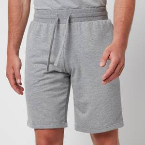 Emporio Armani Men's All Over Logo Terry Bermuda Shorts - Grey Melange