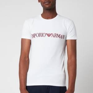 Emporio Armani Men's Megalogo Crew Neck T-Shirt - White