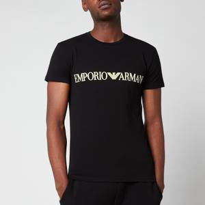 Emporio Armani Men's Megalogo Crew Neck T-Shirt - Black