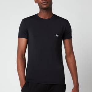 Emporio Armani Men's Mesh Microfiber Crew Neck T-Shirt - Black
