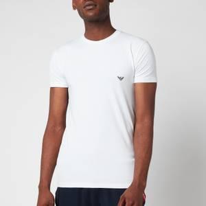Emporio Armani Men's Big Eagle Crew Neck T-Shirt - White