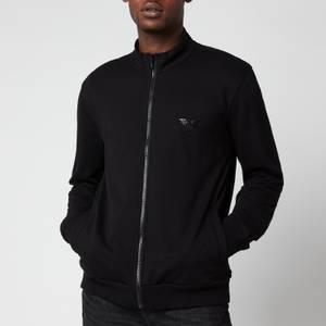 Emporio Armani Men's Iconic Terry Zip Through Sweatshirt - Black